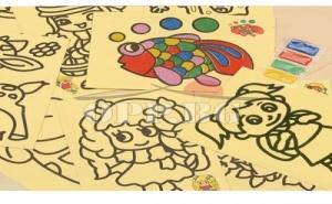Пясъчна рисунка А4 с цветен пясък
