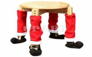 2 Броя Коледни Ботуши за Крака на Стол