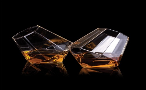 Стъклени Чаши за Уиски – Диаманти (2Бр.)