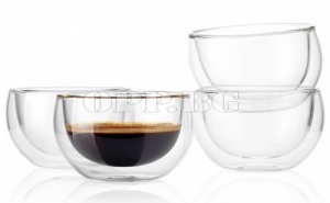 Сет от 2 Броя Уникални Двойно Стъклени Чаши
