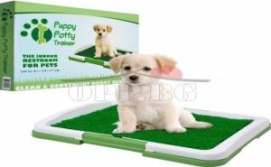 Кучешка Тоалетна с Решетка и Изкуствена Трева