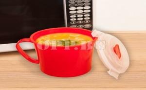 Чаша за Супа в Микровълнова Печка