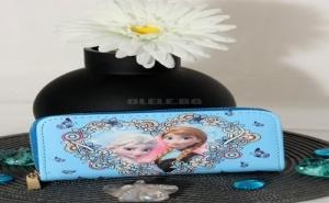 Синьо Детско Портмоне с Елза и Ана