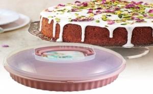 Кръгла Кутия за Съхранение на Торта и Сладкиши Qlux