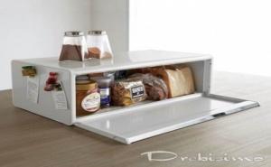 Бяла Кутия за Хляб Brabantia с Падащ Преден Капак