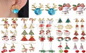 8 Чифта Уникални Дамски Коледни Обеци