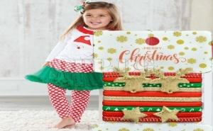 Комплект от 10 Броя Коледни Ластички за Коса
