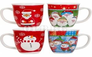Сет от 4 Коледни Чаши в Кутия