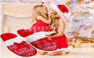 Топли Коледни Чехли в Размер по Избор