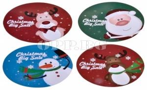 Сет от 4 Броя Коледни Подложки за Чаши