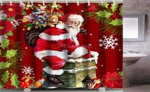 Коледна Завеса за Баня Дядо Коледа
