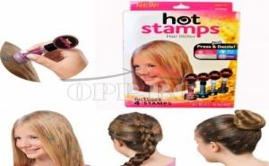 2 бр.печати за коса Hot Stamps