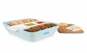 Светло Синя Кутия за Хляб, Купички за Разядки и Дъска за Рязане Tomorrow`s Kitchen