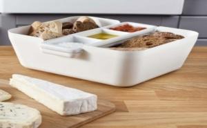 Бяла Кутия за Хляб, Купички за Разядки и Дъска за Рязане Tomorrow`s Kitchen