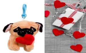 Ключодържател Кученце Носещо Сърце