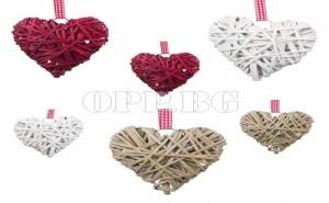 6 Броя Уникални Плетени Сърца за Декорация на Дома или Офиса