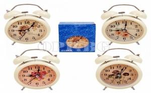 Винтидж Настолен Часовник с Будилник и Светлина
