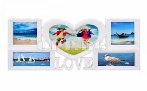 Романтична Рамка за 5 Снимки Love