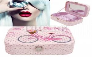Супер Луксозна Кутия за Бижута с Много Отделения