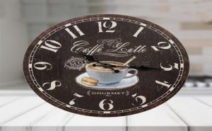 Стенен Часовник Caffe Latte