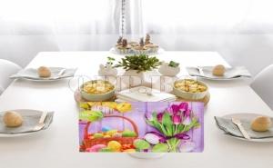 Луксозна Великденска Подложка за Хранене от Плат