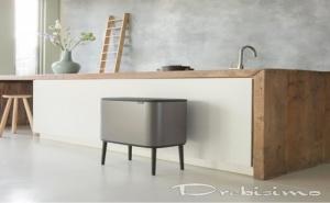 11 + 23 л. кош за смет в цвят платина Brabantia серия Bo Touch