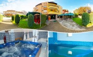 2 или 3 нощувки на човек със закуски и вечери + терапевтичен минерален басейн в хотел Елит, <em>Девин</em>