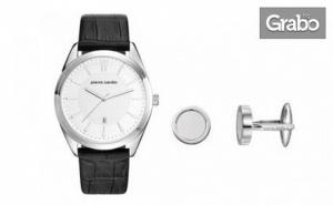 Стилен Сет за Него! Часовник Pierre Cardin и Ръкавели