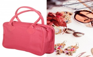 Кокетна Розова Чанта с Къси Дръжки