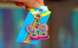 Детски Ключодържател за Цип или Чанта Zip Amis Красива Пеперуда