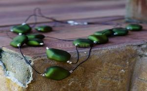 Дамско Колие Зелени Камъни