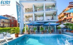 На Море в Несебър на 100М. от Плаж. Нощувка със Закуска + Басейн в Хотел Елири!