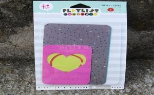 Комплект Перфорирани Цветни Листчета за Картички