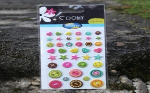 Цветни Стикери Копчета