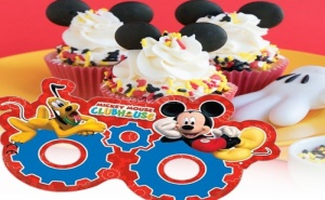 Комплект 6 Броя Парти Маски Mickey Mouse