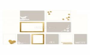 Декоративни прозрачни подложки за снимки със златни елементи
