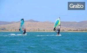 10-часов курс по сърф или кайт на о. Лимнос, Гърция