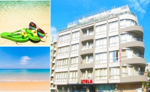 Лято в Несебър! Нощувка със Закуска и Вечеря в Хотел Стела, на 100М. от Южния Плаж!