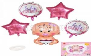 Луксозен Комплект от 5 Броя Балони за Момче или Момиче по Избор
