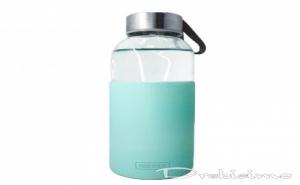 400 Мл Зелена Стъклена Бутилка със Силиконов Протектор Vin Bouquet/nerthus