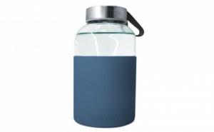 400 мл синя стъклена бутилка със силиконов протектор Vin Bouquet/Nerthus