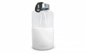 600 Мл Бяла Стъклена Бутилка със Силиконов Протектор Vin Bouquet/nerthus