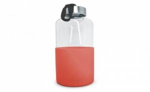 600 Мл Червена Стъклена Бутилка със Силиконов Протектор Vin Bouquet/nerthus