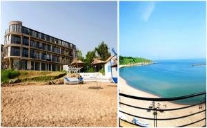 Септември в <em>Черноморец</em> на Първа Линия! Нощувка за Двама със Закуска и Вечеря + Шезлонг и Чадър на Плажа в Хотел Лост Сити!