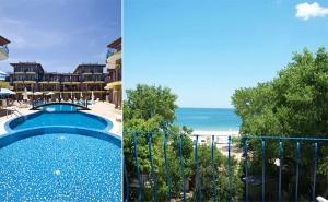 Море на Първа Линия на К-г Градина! Нощувка за Двама или Четирима + Бесейн, Шезлонг и Чадър в Хотел Гардън Бийч, <em>Созопол</em>!