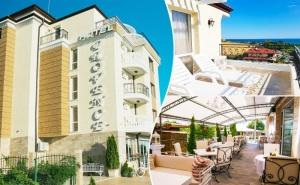 Нощувка с Изглед Море на Цени от 20 лв. на човек в Хотел Прованс, <em>Ахелой</em>. Деца до 12Г. Безплатно!!!