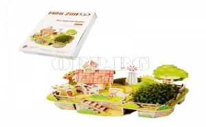 Страхотен 3D Пъзел Ферма със Жива Градина