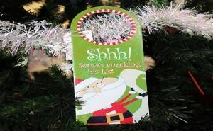 Коледна Табелка за Врата