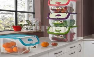 Кутия с Отвор за Съхранение на Плодове и Зеленчуци Coral Box