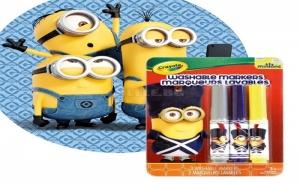 Комплект 3 Броя Измиващи се Маркери Minions Crayola